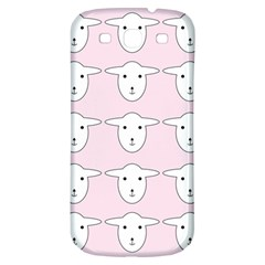 Sheep Wallpaper Pattern Pink Samsung Galaxy S3 S III Classic Hardshell Back Case