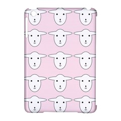 Sheep Wallpaper Pattern Pink Apple Ipad Mini Hardshell Case (compatible With Smart Cover)