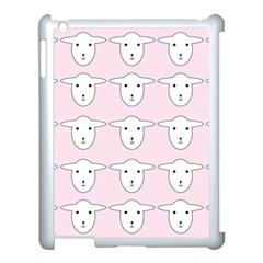 Sheep Wallpaper Pattern Pink Apple Ipad 3/4 Case (white)