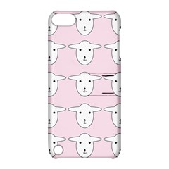 Sheep Wallpaper Pattern Pink Apple Ipod Touch 5 Hardshell Case With Stand