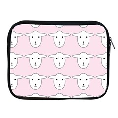 Sheep Wallpaper Pattern Pink Apple Ipad 2/3/4 Zipper Cases