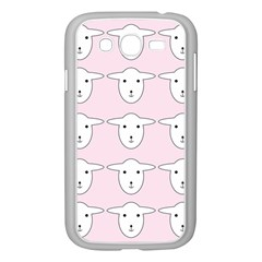 Sheep Wallpaper Pattern Pink Samsung Galaxy Grand Duos I9082 Case (white)