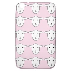 Sheep Wallpaper Pattern Pink Samsung Galaxy Tab 3 (8 ) T3100 Hardshell Case