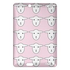 Sheep Wallpaper Pattern Pink Amazon Kindle Fire HD (2013) Hardshell Case