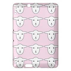 Sheep Wallpaper Pattern Pink Kindle Fire Hdx Hardshell Case