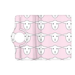Sheep Wallpaper Pattern Pink Kindle Fire Hd (2013) Flip 360 Case
