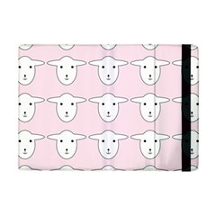 Sheep Wallpaper Pattern Pink Ipad Mini 2 Flip Cases