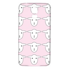 Sheep Wallpaper Pattern Pink Samsung Galaxy S5 Back Case (white)