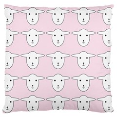 Sheep Wallpaper Pattern Pink Large Flano Cushion Case (one Side)