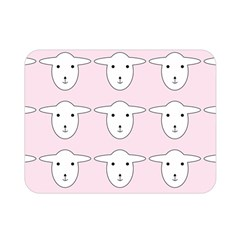 Sheep Wallpaper Pattern Pink Double Sided Flano Blanket (mini)
