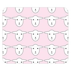 Sheep Wallpaper Pattern Pink Double Sided Flano Blanket (small)