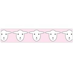 Sheep Wallpaper Pattern Pink Flano Scarf (Large)
