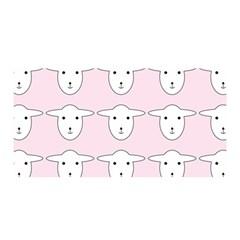 Sheep Wallpaper Pattern Pink Satin Wrap