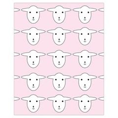 Sheep Wallpaper Pattern Pink Drawstring Bag (small)