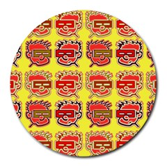 Funny Faces Round Mousepads