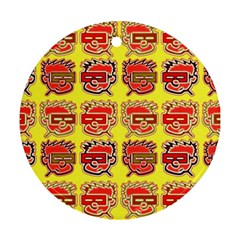 Funny Faces Ornament (round)