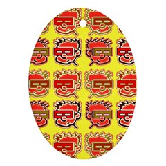 Funny Faces Ornament (oval)