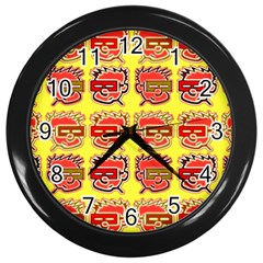Funny Faces Wall Clocks (black)