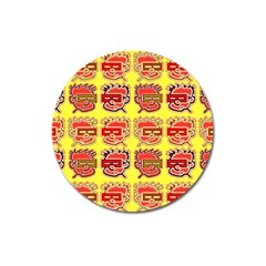 Funny Faces Magnet 3  (round)