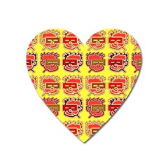 Funny Faces Heart Magnet