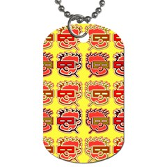 Funny Faces Dog Tag (one Side)