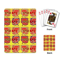 Funny Faces Playing Card