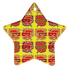 Funny Faces Star Ornament (Two Sides)