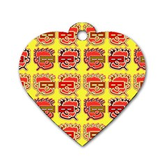 Funny Faces Dog Tag Heart (one Side)