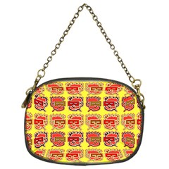 Funny Faces Chain Purses (one Side)