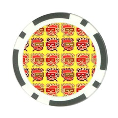 Funny Faces Poker Chip Card Guard (10 Pack)