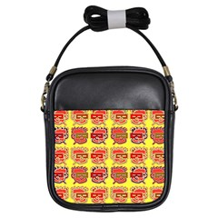 Funny Faces Girls Sling Bags