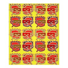 Funny Faces Shower Curtain 60  X 72  (medium)