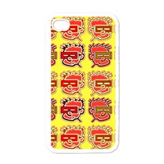 Funny Faces Apple Iphone 4 Case (white)