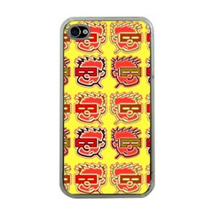 Funny Faces Apple Iphone 4 Case (clear)