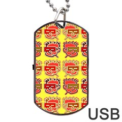 Funny Faces Dog Tag Usb Flash (one Side)