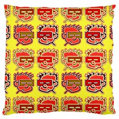 Funny Faces Large Cushion Case (one Side)