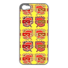 Funny Faces Apple Iphone 5 Case (silver)