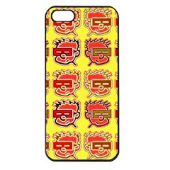 Funny Faces Apple Iphone 5 Seamless Case (black)