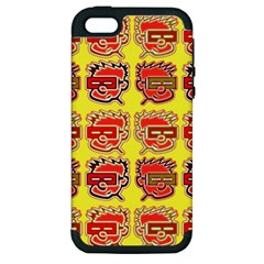 Funny Faces Apple Iphone 5 Hardshell Case (pc+silicone)
