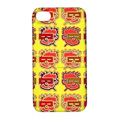 Funny Faces Apple Iphone 4/4s Hardshell Case With Stand