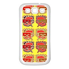 Funny Faces Samsung Galaxy S3 Back Case (white)