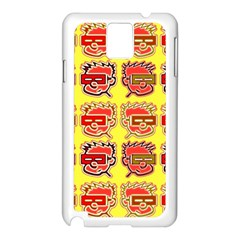 Funny Faces Samsung Galaxy Note 3 N9005 Case (white)