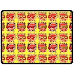 Funny Faces Double Sided Fleece Blanket (large)