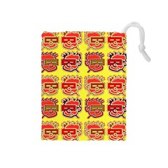 Funny Faces Drawstring Pouches (Medium)