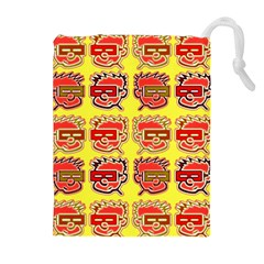 Funny Faces Drawstring Pouches (Extra Large)