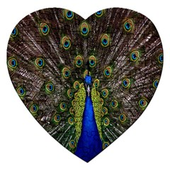Bird Peacock Display Full Elegant Plumage Jigsaw Puzzle (heart)