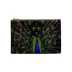 Bird Peacock Display Full Elegant Plumage Cosmetic Bag (medium)