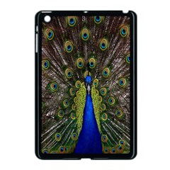 Bird Peacock Display Full Elegant Plumage Apple Ipad Mini Case (black)