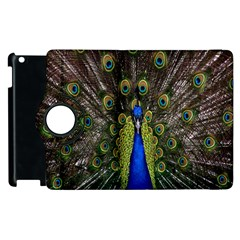 Bird Peacock Display Full Elegant Plumage Apple Ipad 2 Flip 360 Case
