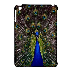Bird Peacock Display Full Elegant Plumage Apple Ipad Mini Hardshell Case (compatible With Smart Cover)